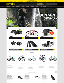 Halo Bicydos - Responsive Bike Store Magento Theme
